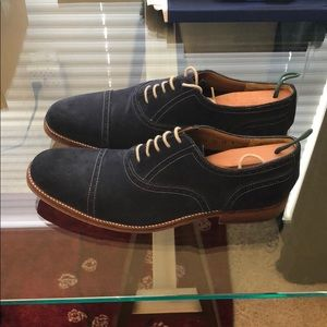 Grenson Navy suede dress shoes